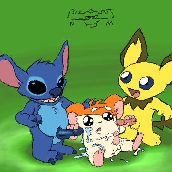 stitch lilo 420 experiment and Mangle five nights at freddy