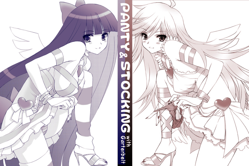 stocking garterbelt panty stocking and with Naked girls in thigh highs